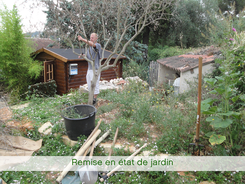 Remise en état du jardin