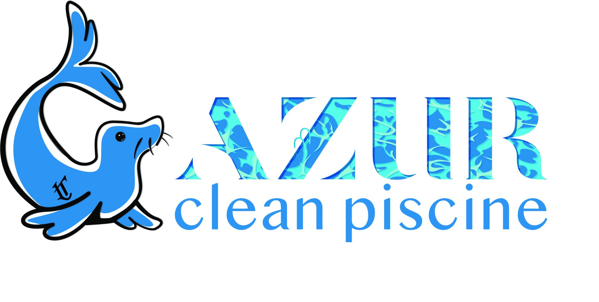 logo azur clean piscine